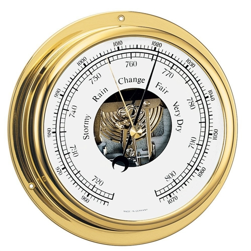 "Barigo Viking Series Ship's Barometer - Brass Housing - 5"" Dial 111MS"