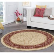 Alise Rugs  Rhythm Transitional Oriental Round Area Rug - 5'3 x 5'3