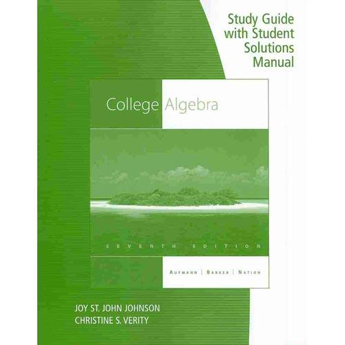 Manual college algebra solutions pdf