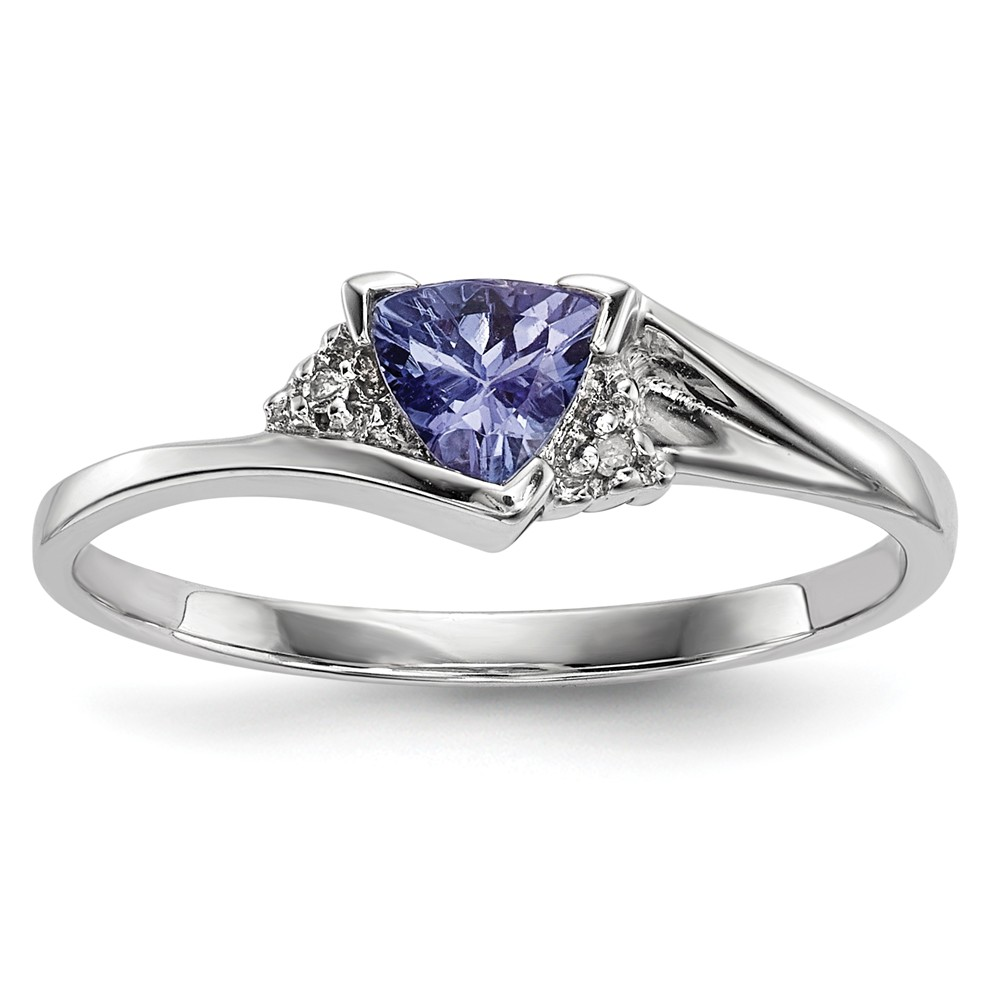14k White Gold Diamond and Tanzanite Ring Size 7 by Diamond2Deal