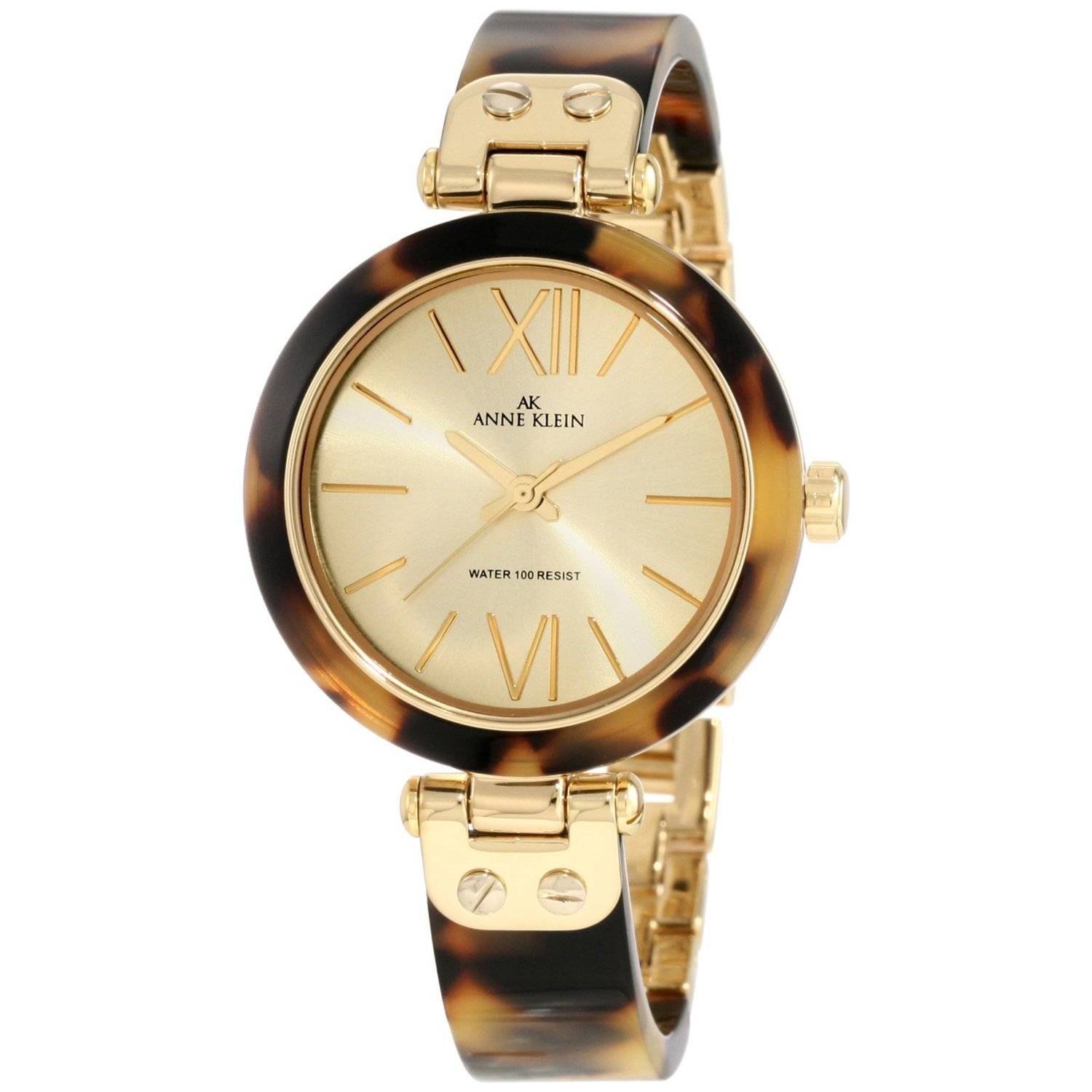 Anne Klein Women's 10-9652CHTO Gold Plastic Quartz Dress Watch
