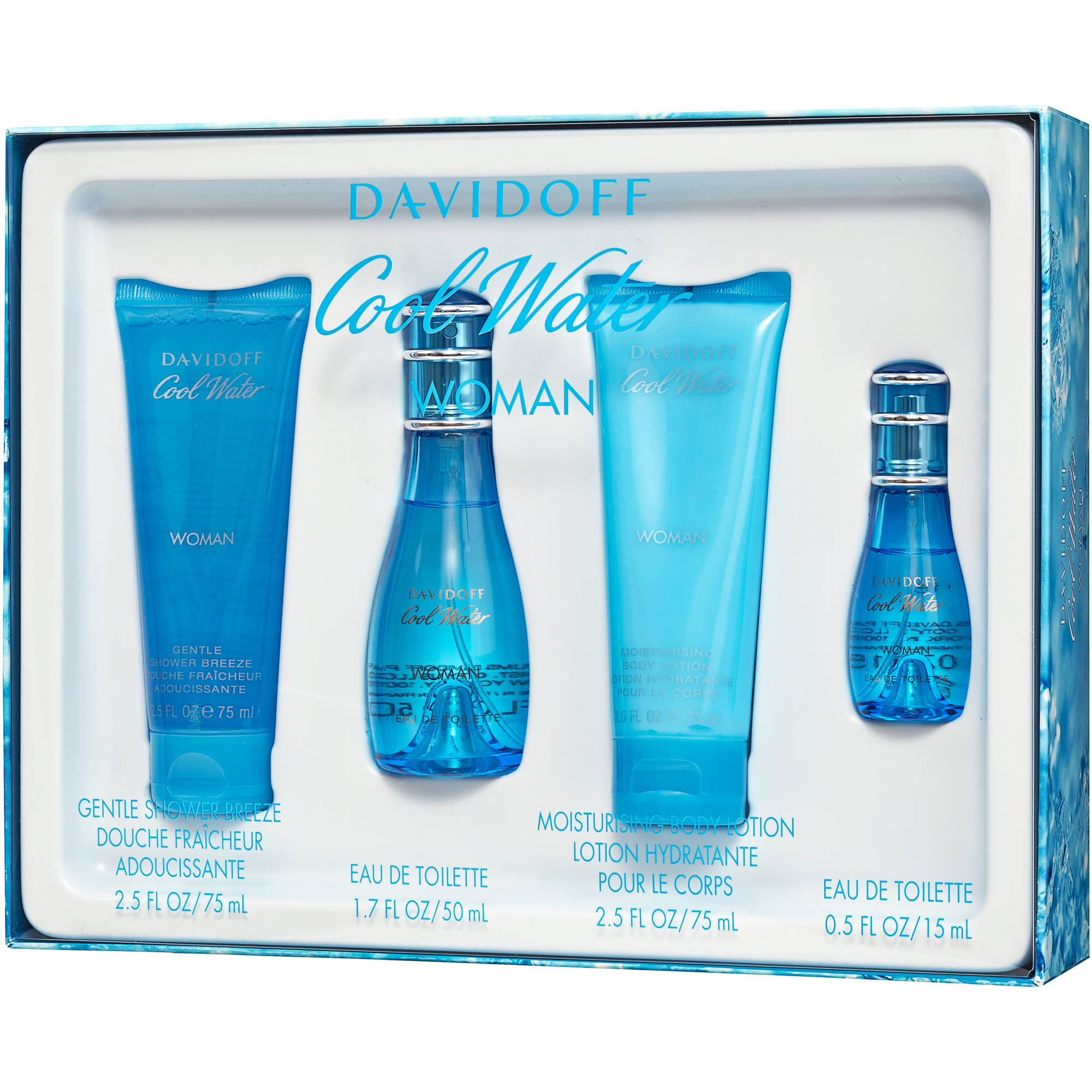 Davidoff Cool Water Woman Bath Gift Set, 4 pc
