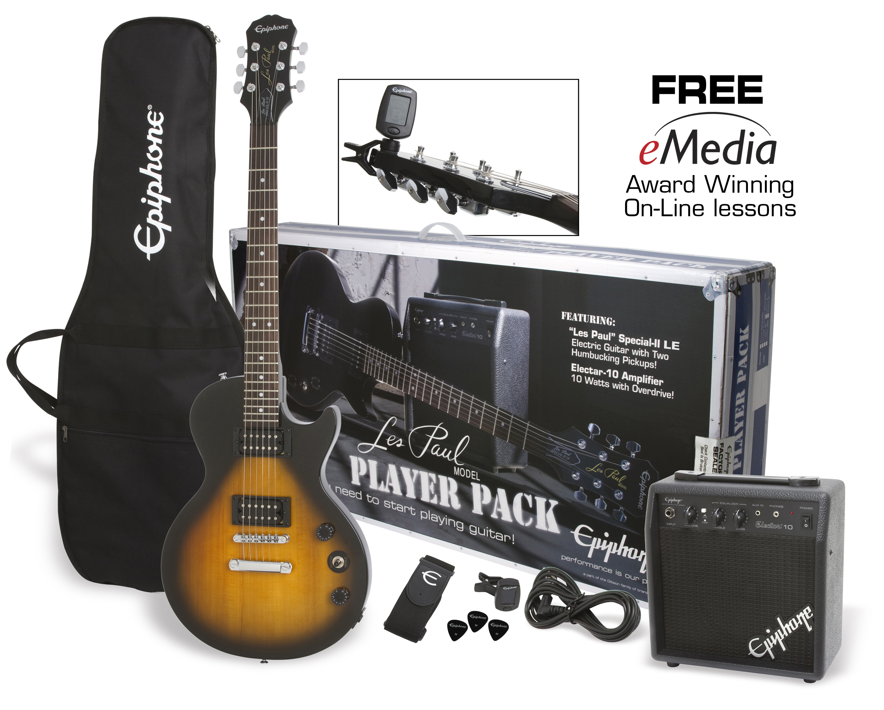 Epiphone Les Paul Special Ii Electric Guitar Player Pack Gibson Premium Wiring Diagram
