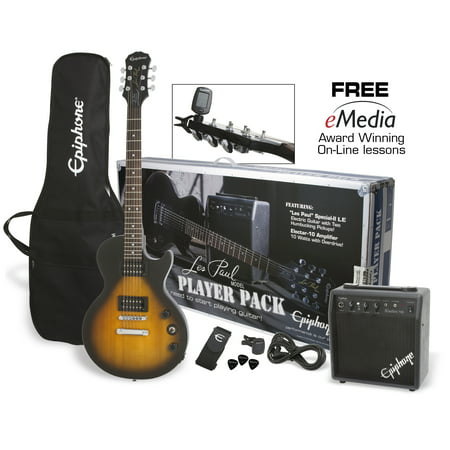 Epiphone Les Paul Special-II Electric Guitar Player Pack (Sunburst Gibson Les Paul)