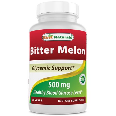 Best Naturals Bitter Melon 500 mg 90 Veggie Capsules Single Pack Bitter Melon Glycemic Control
