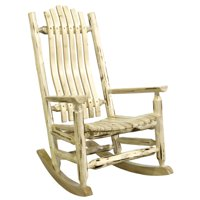 Montana Collection Adult Log Rocker, Ready to Finish