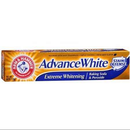 ARM & HAMMER Advance Blanc Extreme Whitening avec taches défense Dentifrice, 6 oz (Pack of 6)