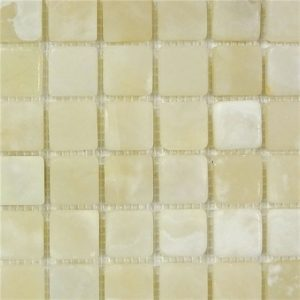 "White Onyx Mosaic Tile 1""X 1"" Tumbled"