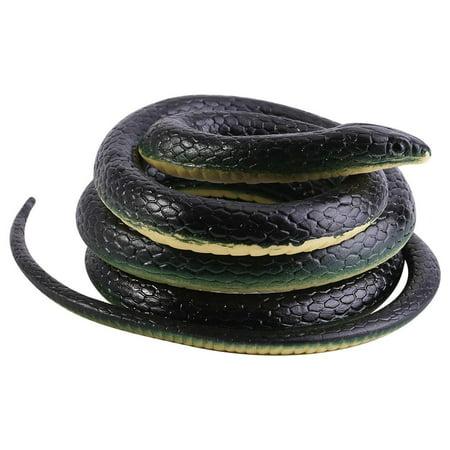 Realistic Snake Prop (Tebru Rubber Snake, 1Pc 130cm Long Realistic Soft Rubber Snake Garden Props Funny Joke Prank Toy Gift Hot, Soft Rubber Snake for)