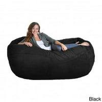 Slacker Sack Corduroy Oval Large Microfiber Suede and Foam Bean Bag Chair
