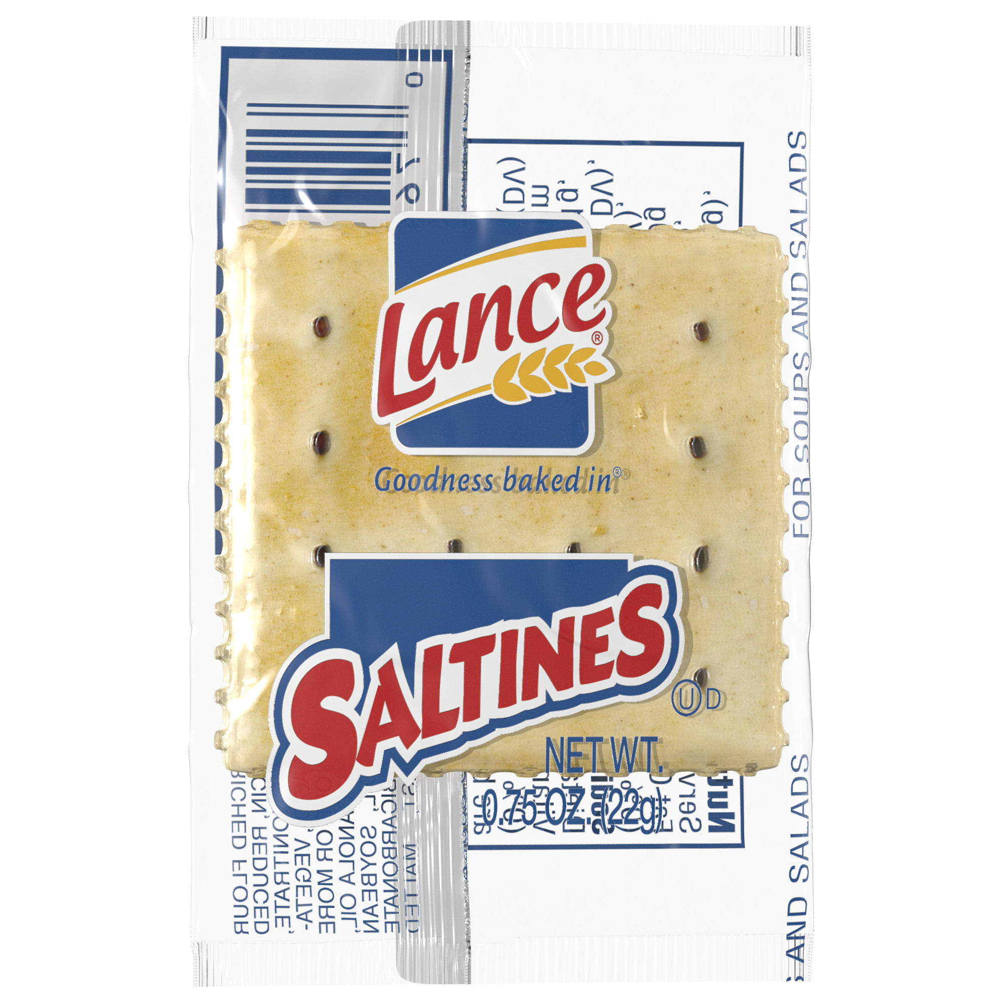 Lance Saltines Crackers, Single Serve Packs, 500 Ct