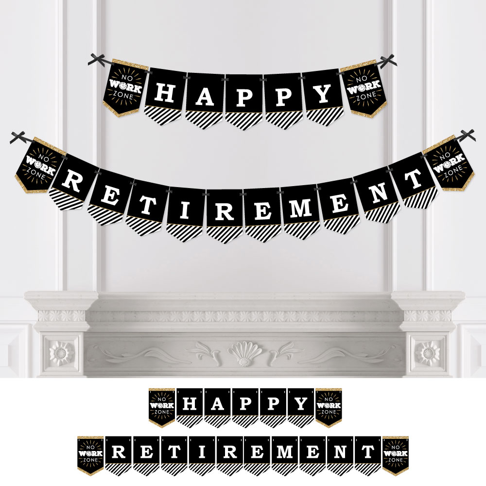 Happy Retirement - Retirement Party Bunting Banner - Party Decorations