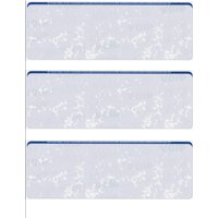 "Zapco Security Check Paper, 24lb w Blue Marble Pattern, 8-1/2"" x 11"", Microperfed with 3 Checks, 8 Security Features - 100 SHEETS"