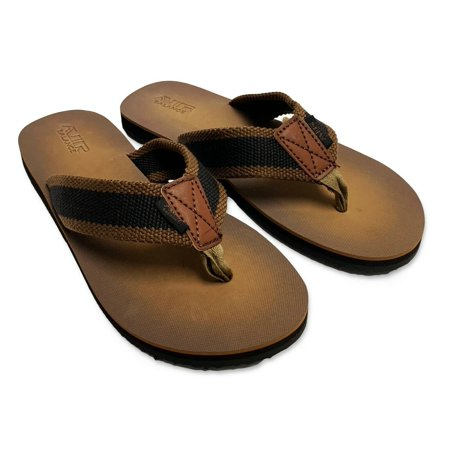 Men's Flip Flop Sandals Slide Shoes, Grey, Brown, sizes 8-13