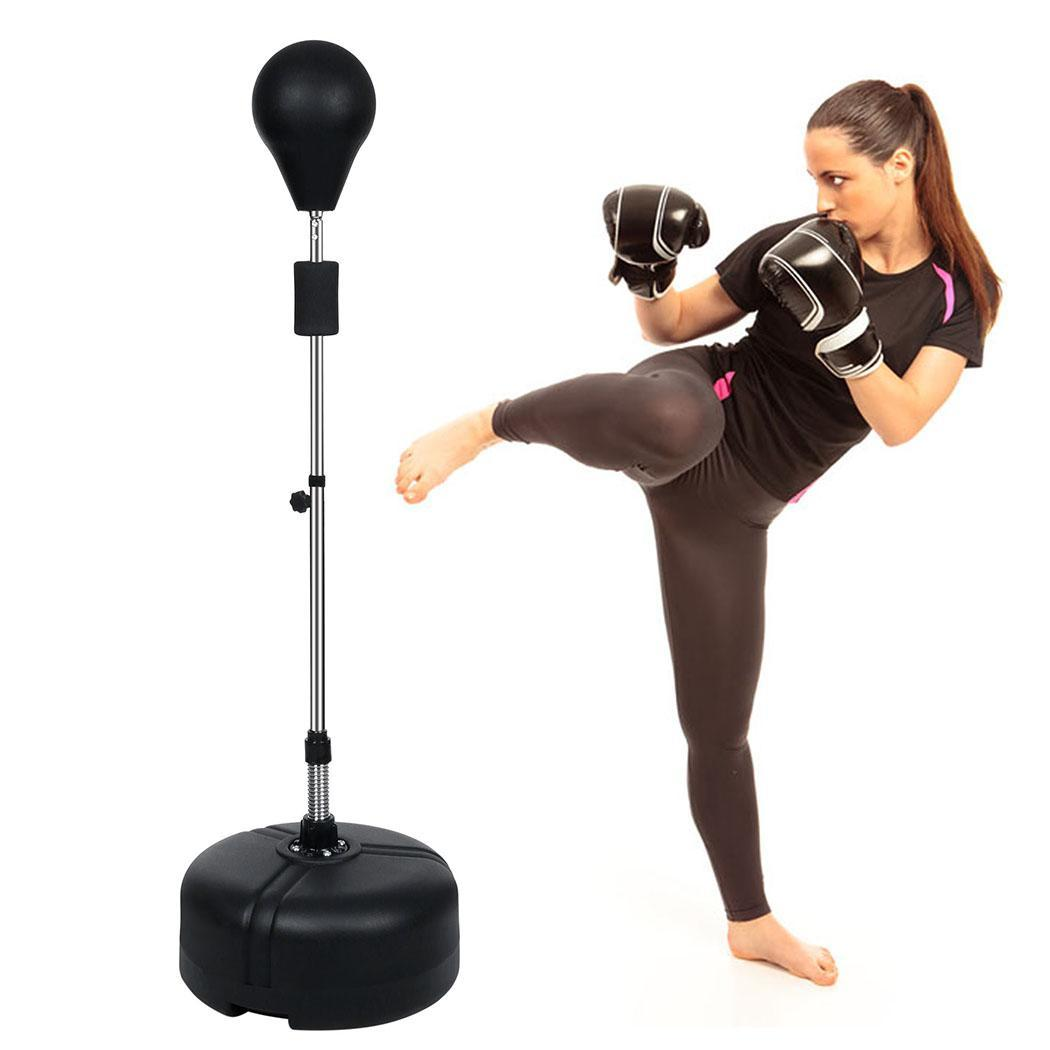 Heavy Duty 61'' Punching Bag Gym Adjustable Height Workou...
