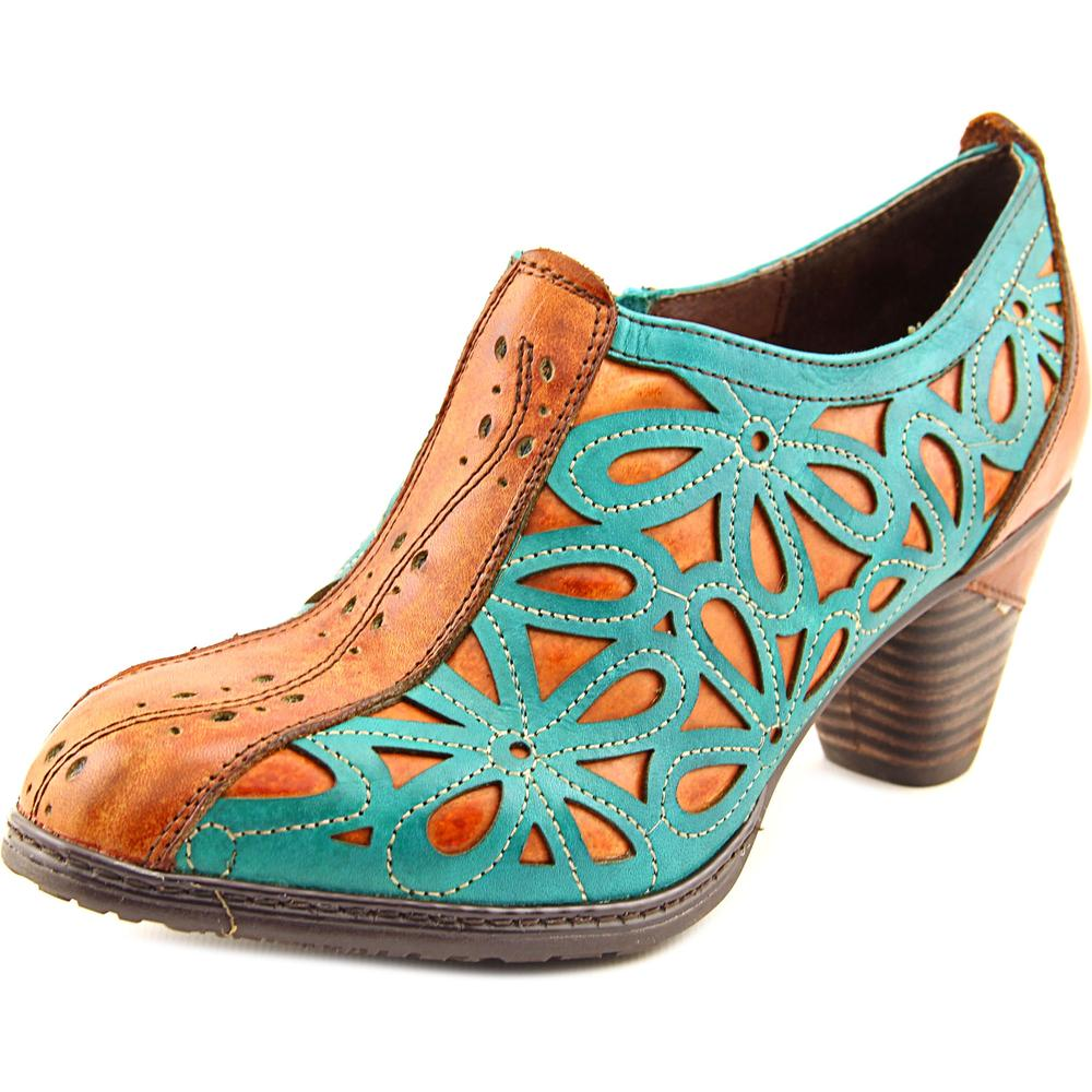 L'Artiste by Spring Step Arabella Women Round Toe Leather Green Ankle Boot by L'Artiste by Spring Step