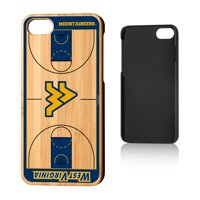 WVU West Virginia Mountaineers Basketball Court Bamboo Case for iPhone 8 / 7