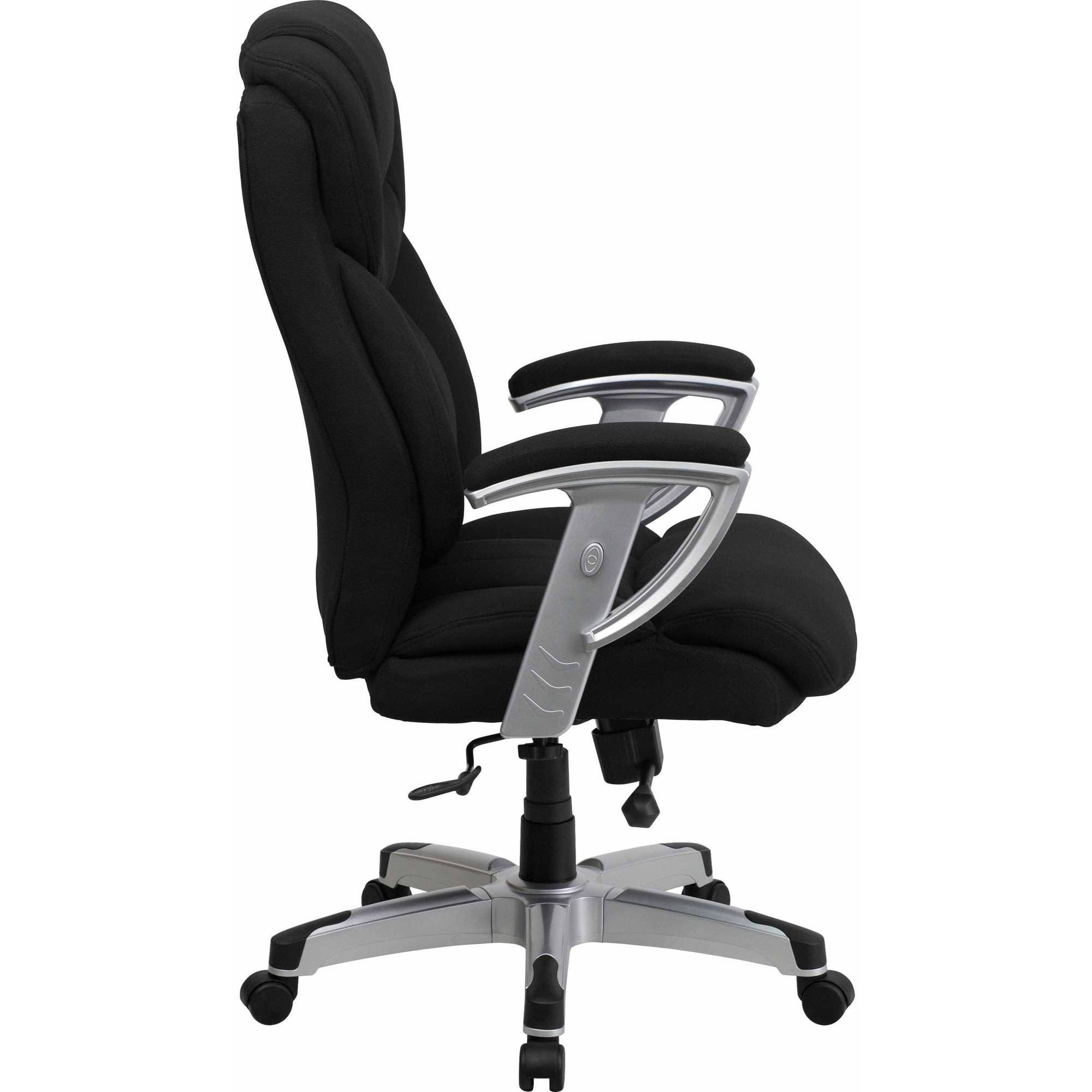 Office chairs for big and tall - Flash Furniture Hercules Series 400 Pound Capacity Big Tall Black Fabric Executive Swivel Office Chair With Height And Width Adjustable Arms Walmart Com