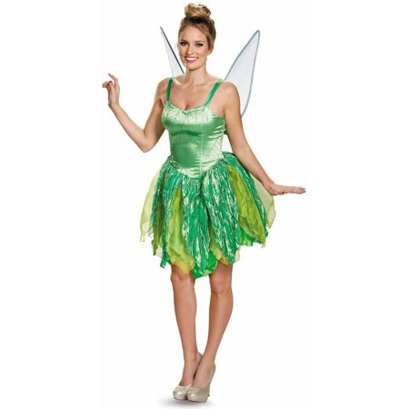 Disney Fairies Tinker Bell Prestige Women's Adult Halloween Costume (Halloween Dead Fairy Makeup)