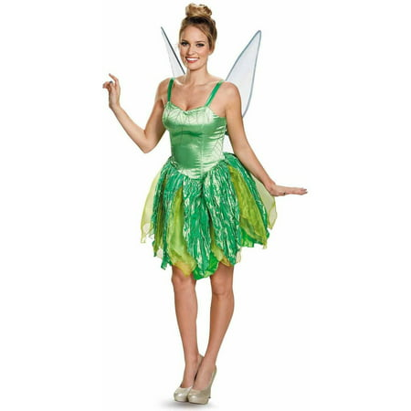 Disney Fairies Tinker Bell Prestige Women's Adult Halloween Costume](Adult Green Fairy Costume)