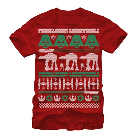 star wars mens ugly christmas sweater t shirt walmartcom