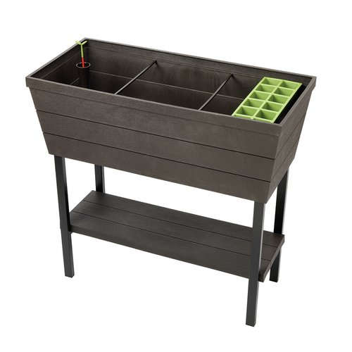 Keter Urban Bloomer, Resin Elevated Planter Raised Garden Bed by Keter