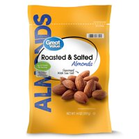 Great Value Roasted & Salted Almonds, 14 Oz