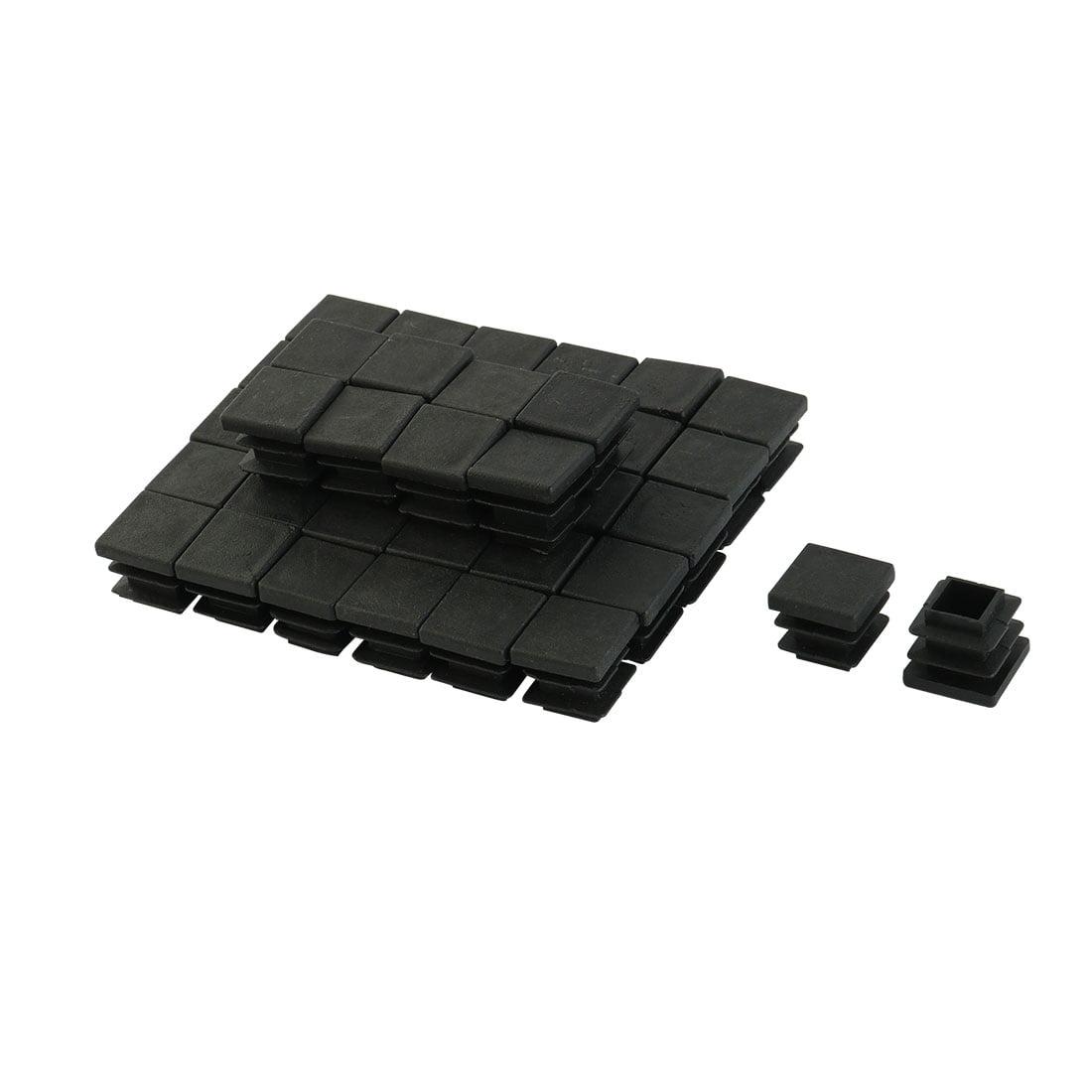 Domicile Bureau Carre Table Chaise En Plastique Pour Tubes A Jambe Noir 16 X 16mm 40pcs