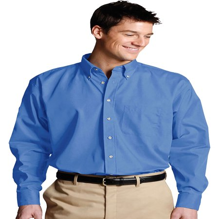 Men's Long Sleeve Button Down Poplin Shirt, Style