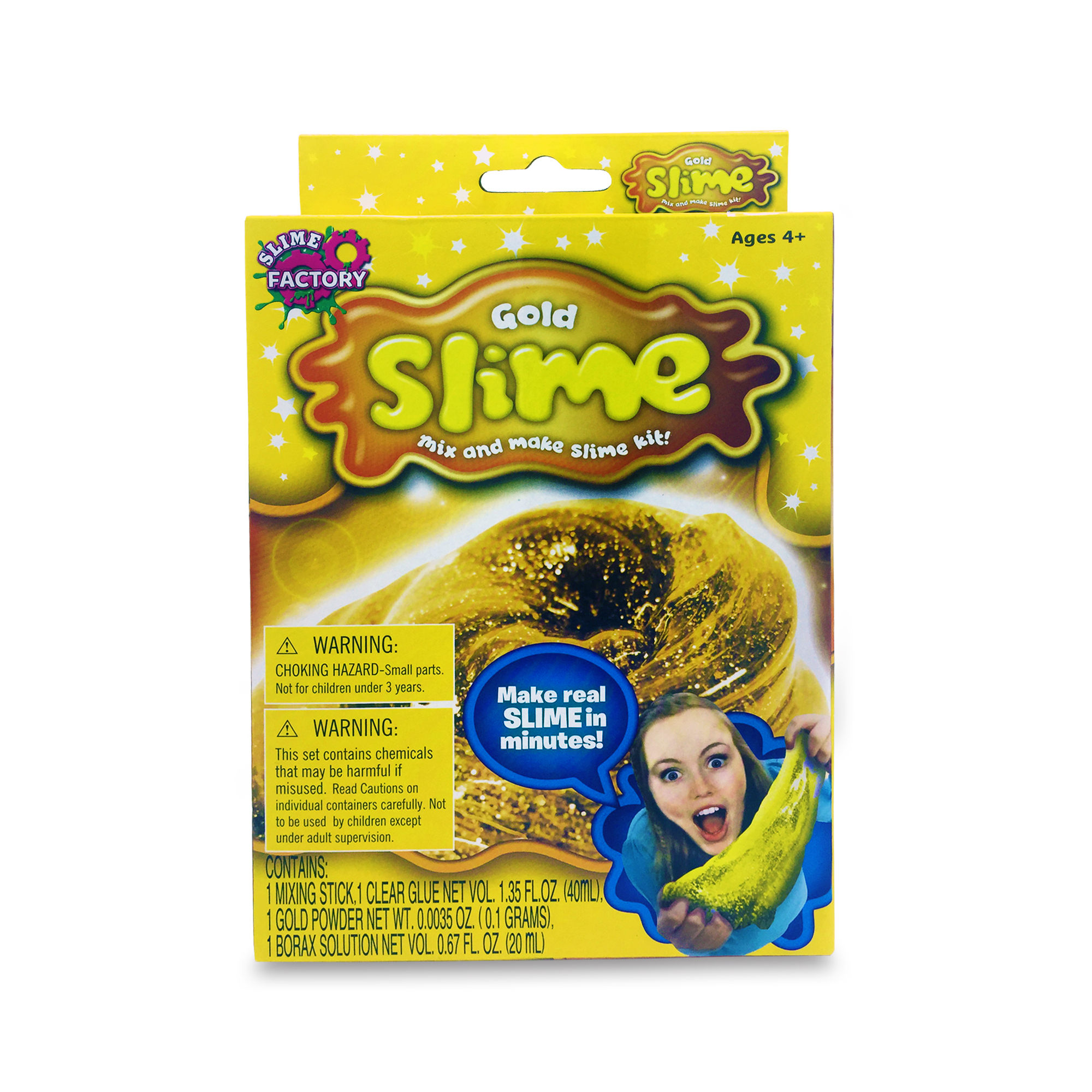 2 pack DIY Slime Gold and Galaxy