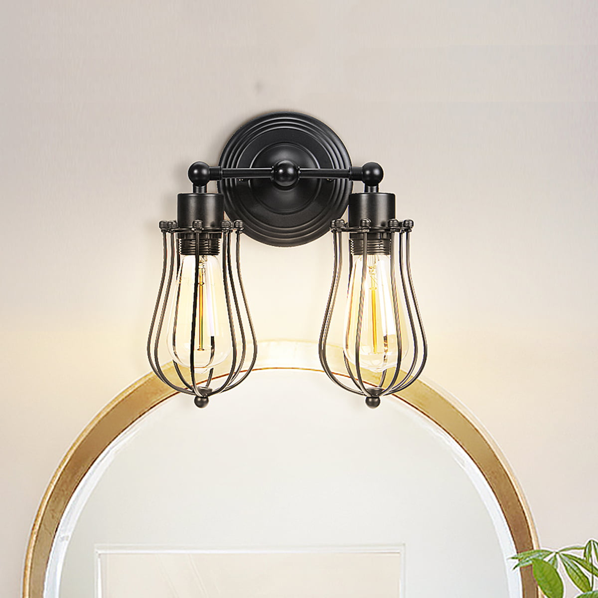 Vintage Iron American Bar Restaurant Porch Wall Lamps Wall Lights Sconce Fixture