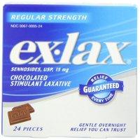 Ex-lax  Regular Strength Chocolated, 24 Count Box