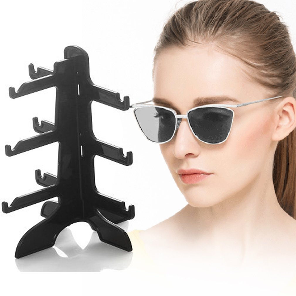 Black white clear Sunglasses Show Stand Rack Holder Frame Display Stand by YKS