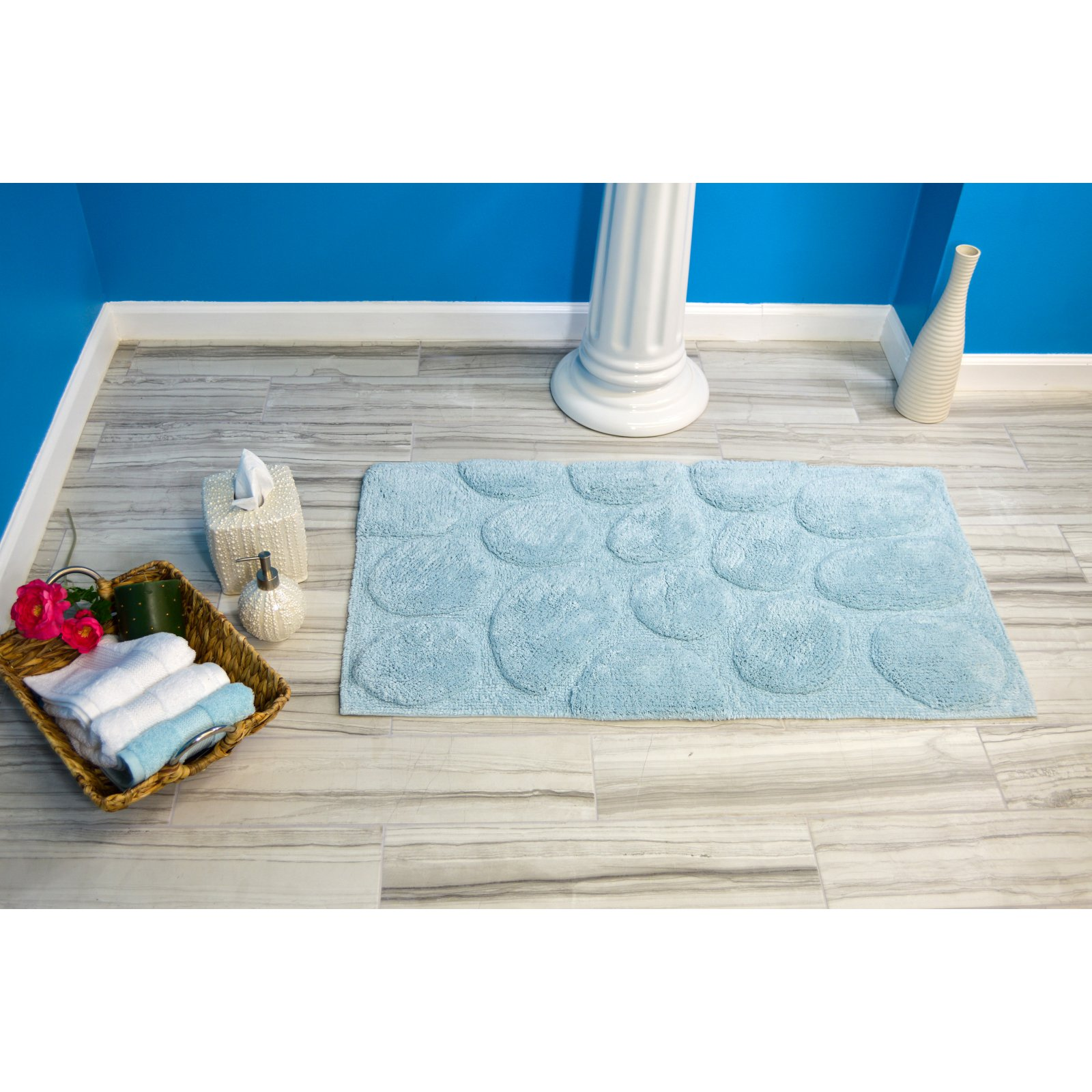 Elegance Collection Palm Bath Rug