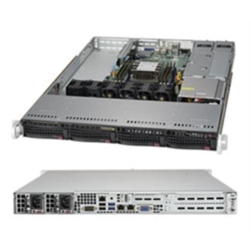 Supermicro SuperServer 5019P-WTR Barebone System - 1U Rack-mountable - Intel C622 Chipset - Socket P LGA-3647 - 1 x Processor Support - Black (212919)