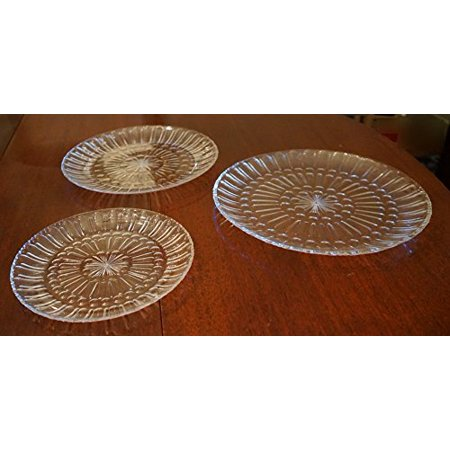 Large Round Serving Tray Clear Acrylic, Set of 3 ()