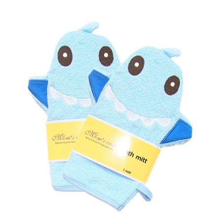 5f185512b486 Panda Superstore PS-BEA11056511-HIROCO01345 Durable Soft Cute Baby, Kids  Bath Sponge & Mitt & Gloves, Blue Shark - Set of 2