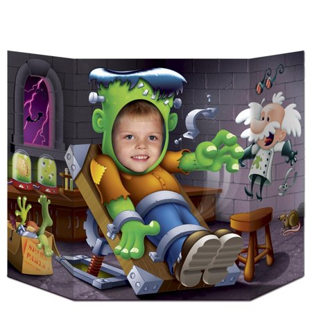 Pack of 6 Halloween Waking Up Frankenstein Photo Prop Decoration 37