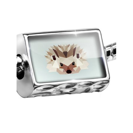 - Bead Low Poly Animals Modern design Hedgehog Charm Fits All European Bracelets