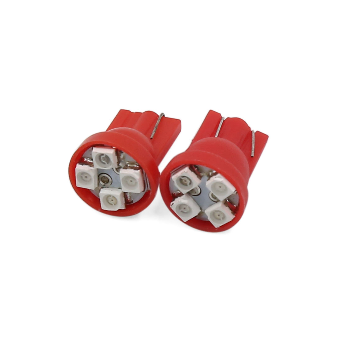 Red T10 4 LED 1210 SMD Side Tail Parking Indicator Light Bulbs 2 Pcs Interior