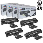 LD Products Compatible Replacements for Samsung SCX-4521D3 Set of 4 Black Laser Toner Cartridges