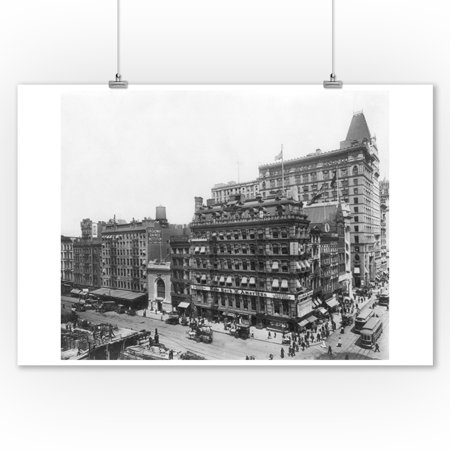 Street Scene of Park Place and Broadway NYC Photo (9x12 Art Print, Wall Decor Travel Poster)](Halloween Store Broadway Nyc)