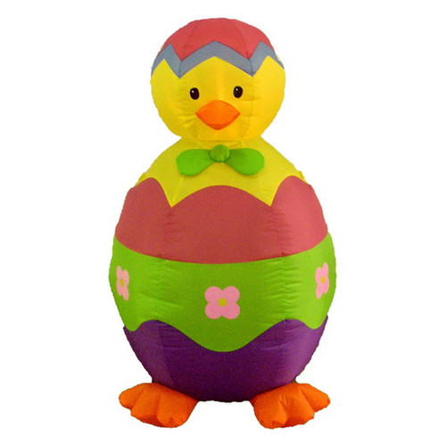 BZB Goods Lighted Easter Inflatable Baby Chick and Egg Indoor/Outdoor Decoration