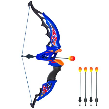 Best Choice Products Kids Toy Archery Bow And Arrow Set With Bow, 4 Soft Foam Dart Arrows - Children's Bow And Arrow