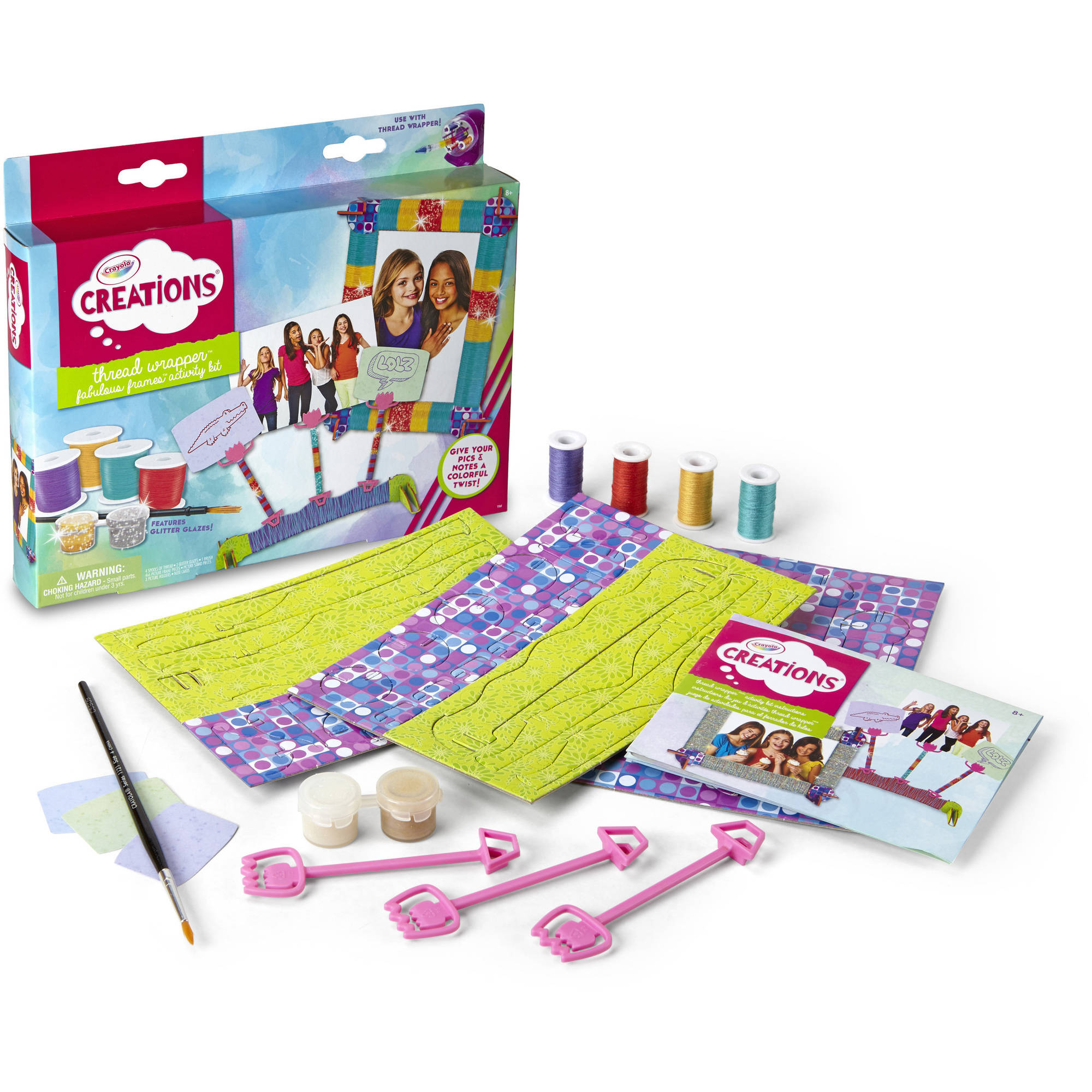 Crayola Thread Wrapper Activity Kit, Gift for Girls, Ages 8, 9, 10, 11 by Crayola