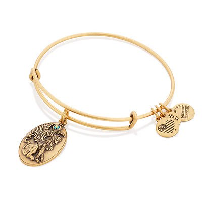 Alex And Ani Sphinx Charm Rafaelian Gold Finish Bangle Bracelet A16EB65RG