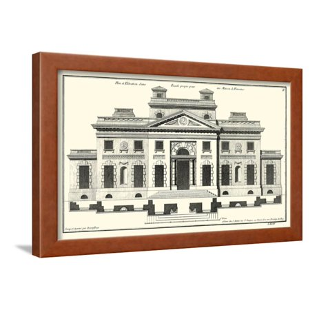 Crackle B&W Architectural Facade V Framed Print Wall Art By Jean - Architectural Facade