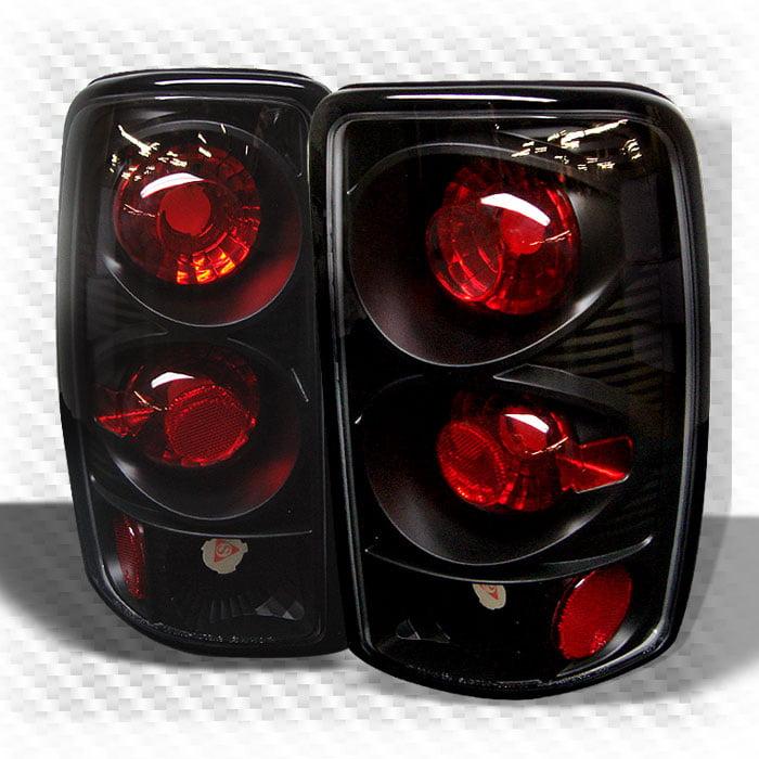 2000-2006 Suburban Tahoe Yukon Black Tail Lights Lamps Rear Brake Taillight Pair Left+Right 2001 2002 2003 2004 2005