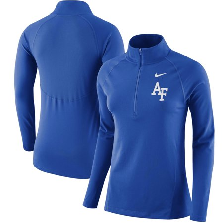 Air Force Falcons Nike Women's Element Core 1/2 Zip Jacket - Royal (Nike Air Force)