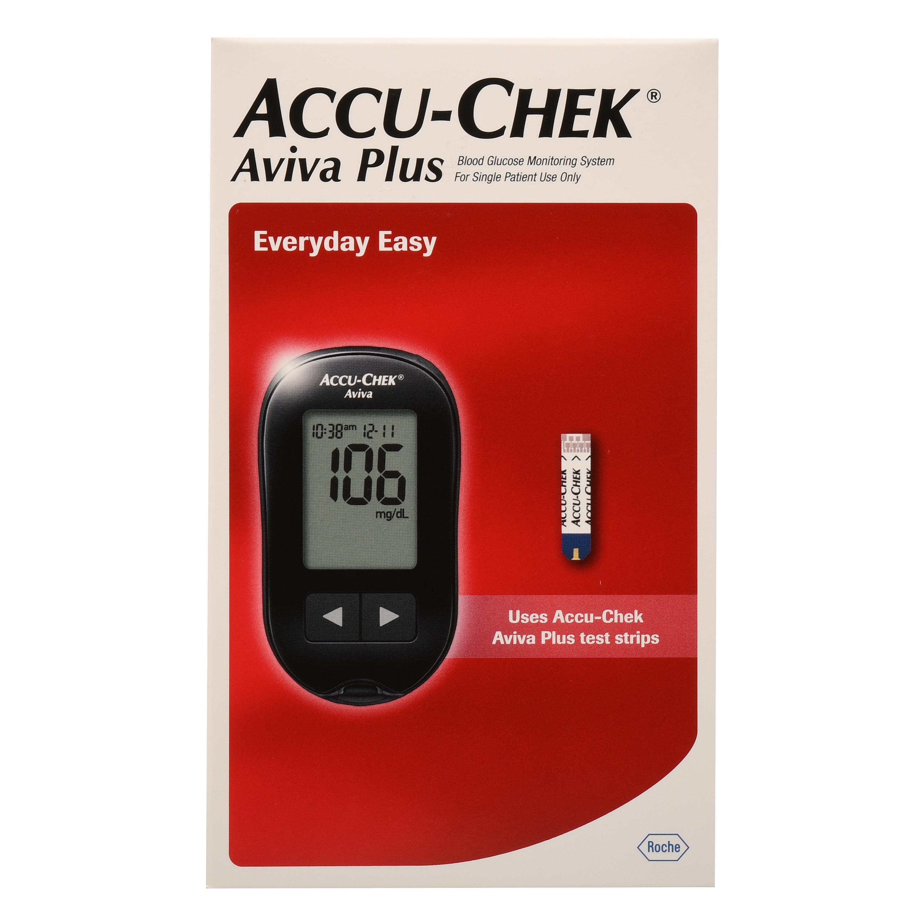 Accu-Chek Aviva Plus Blood Glucose Monitoring System Kit
